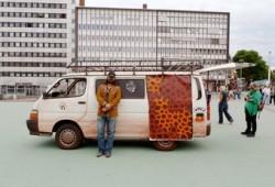 Warwick with van at Documenta, Kassel, Germany