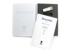 Stranded - artwork case interior and certificate